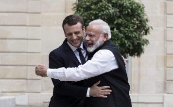 Prime Minister Narendra Modi with French President Emmanuel Macron. (Photo: Twitter/@PMOIndia)
